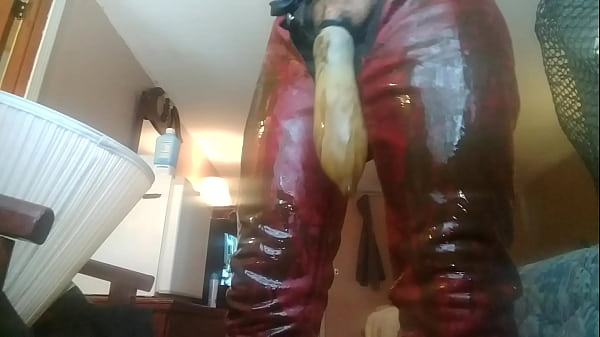Leather, Condom, Cum filled