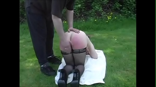 Spanking, Spanked, Outdoor milf