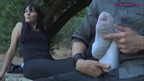 Tickle feet, Tickle, Outdoor milf