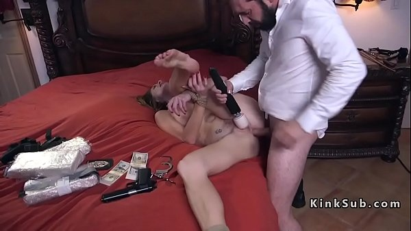 Rough, Tied, Rough anal, Brunette anal